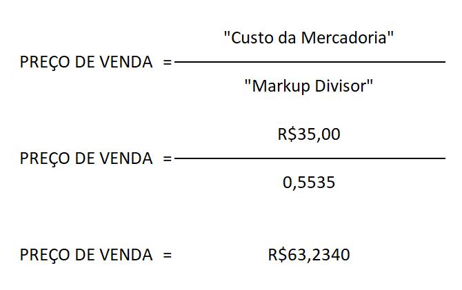 markup divisor preco venda linko comercial