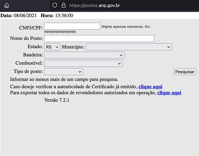 anp postos gestao cr sistemas e web linko comercial