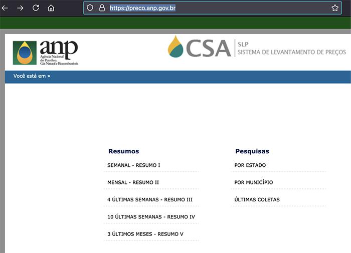 anp preços gestão cr sistemas e web linko comercial
